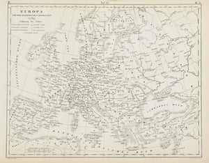 1857 Tef 13 Europe before the French Revolution of 1789 - JG Heck