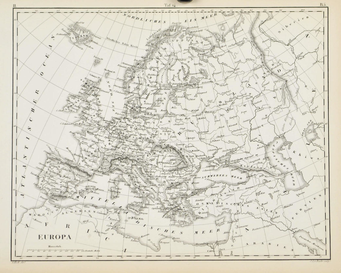 1857 Tef 14 Europe as it is at present - JG Heck