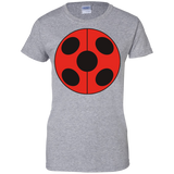 _FLATLadybug  Ladies Custom 100% Cotton T-Shirt