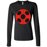 MIR_FLATLadybug  Junior Fit Custom Printed Long Sleeve T Shirt