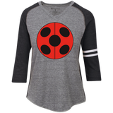 MIR_FLATLadybug  Ladies' Vintage V-neck Shirt