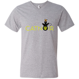MIR_ChatNoir  Men's Printed V-Neck T