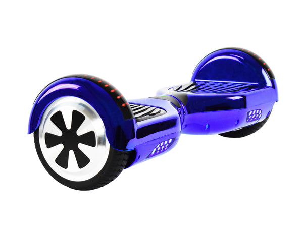 Prime R6 Plus Monster Wheel  (Blue Chrome) with Bluetooth Speakers - UL-2272 Certified