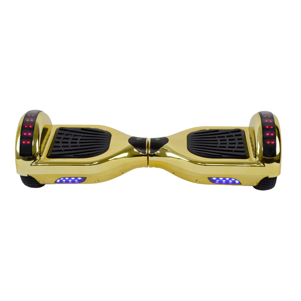 Prime R6 Plus Monster Wheel Hoverboard (Chrome Gold) with Bluetooth Speakers - UL-2272 Certified - New