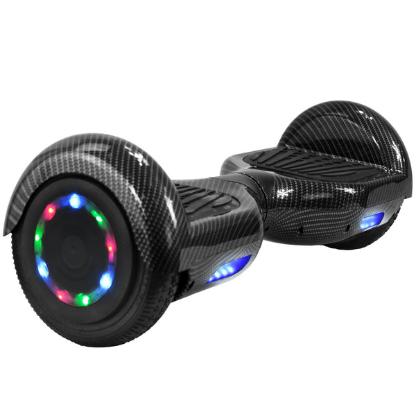 Monster Wheel Hoverboards Bluetooth Speaker | UL-2272 certified hoverboard | Black Carbon Fiber