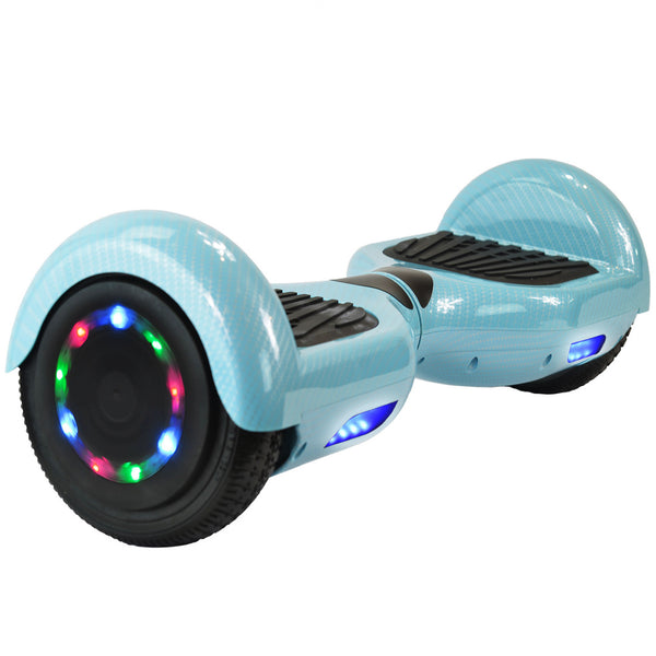 Monster Wheel Hoverboards Bluetooth Speaker | UL-2272 certified hoverboard | Blue Carbon Fiber