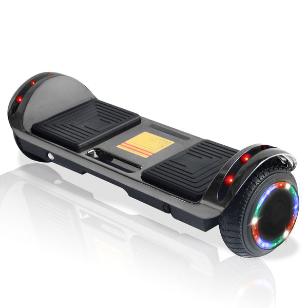 New Flat Surface Hoverboard RMW 6.5 Chrome Black with Bluetooth and Carry Handle