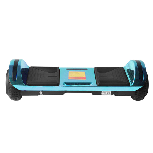 New Flat Surface Hoverboard RMW 6.5 Chrome Blue with Bluetooth and Carry Handle