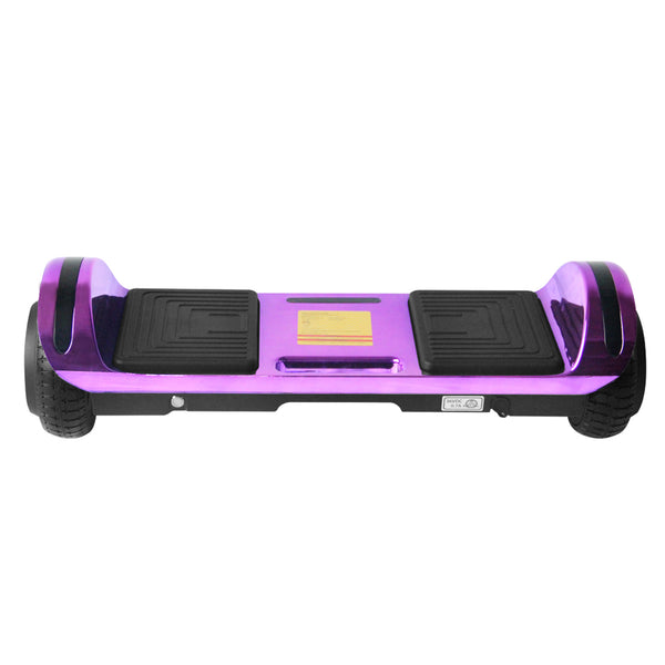 New Flat Surface Hoverboard RMW 6.5 Chrome Purple with Bluetooth and Carry Handle