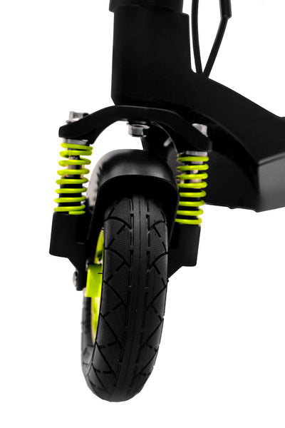 Inmotion L6 Electric Scooter Black Green Suspension