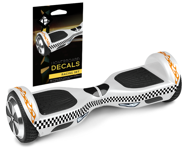 Prime R6 Monster Wheel Hoverboard UL-2272 Certified White with Speedway Decals