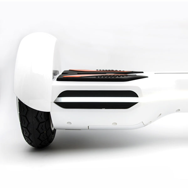"Otto R8x Hoverboard - Government Approved UL2272  - White with 8"" wheel"