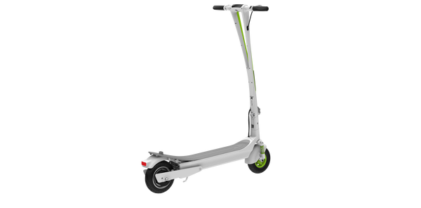 Inmotion L6 Electric Scooter White Green Refurbished Back View