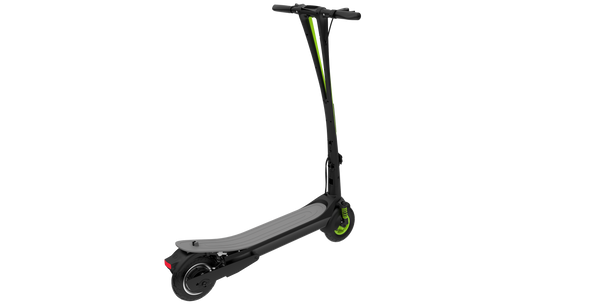 Inmotion L6 Electric Scooter Black Green Refurbished Back View