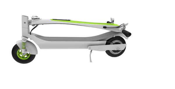 Inmotion L6 Foldable Electric Scooter White Green Folded