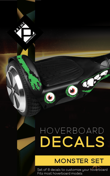 Universal Hoverboard Decals - Green Monster