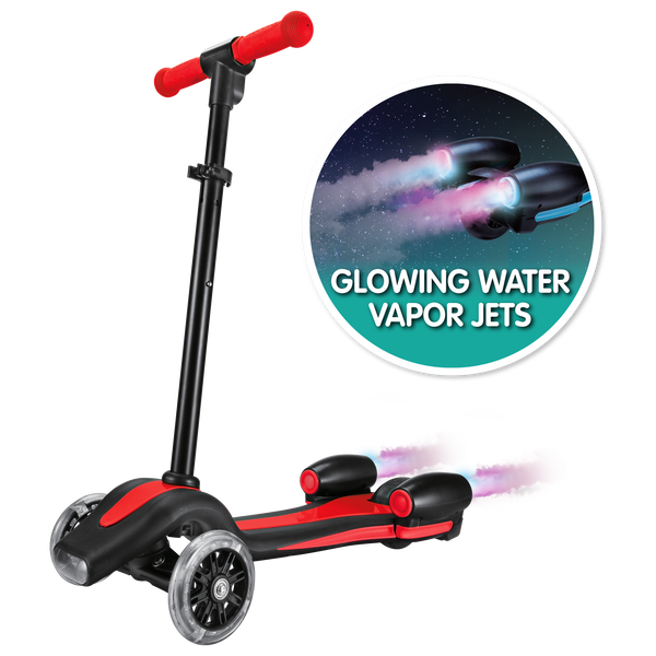 Super Rocket Jet Scooter - Red (with Glowing Vapor Jets)