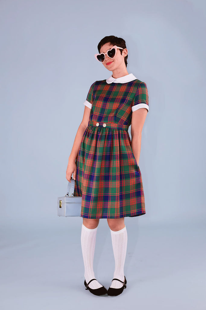 Clockhouse Dress Plaid