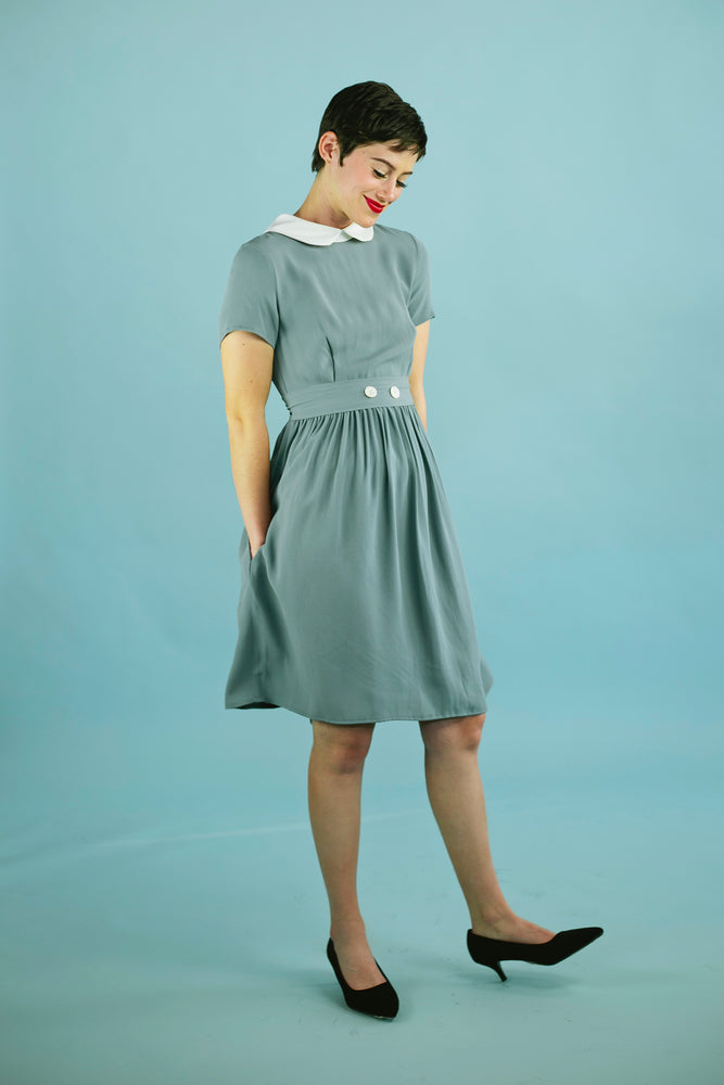 Clockhouse Dress Slate Blue