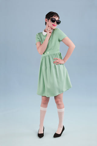 Clockhouse Dress Sage Green