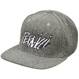 Signature Melton WoolFlat Brim Grey