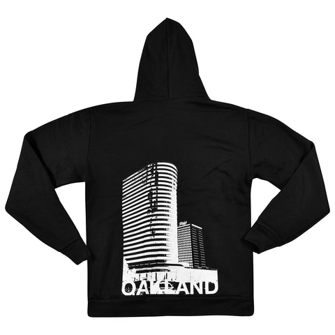 Oakland Striped Building Zip Hood