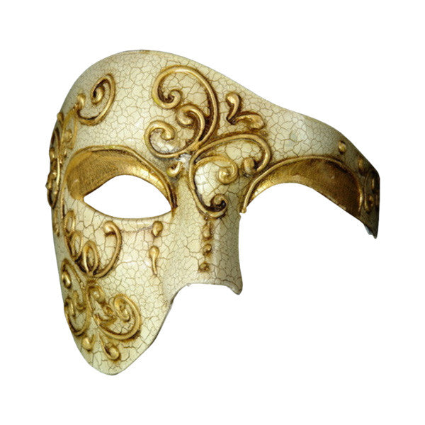 VINTAGE Series Phantom Of The Opera Half Face Masquerade Mask - Luxury Mask - 1