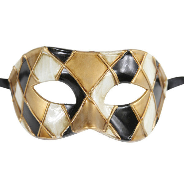 CHECKERED Multi Color Vintage Design Masquerade Mask - Luxury Mask - 4