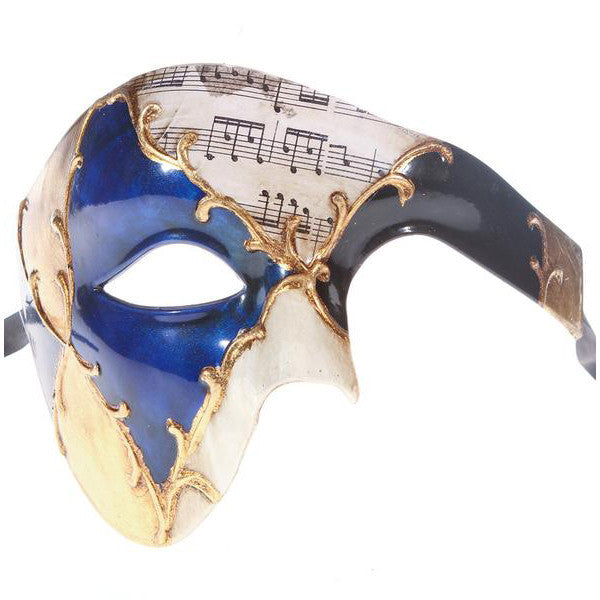 MUSICAL Series Vintage Phantom Of The Opera Half Face Masquerade Mask - Luxury Mask - 1