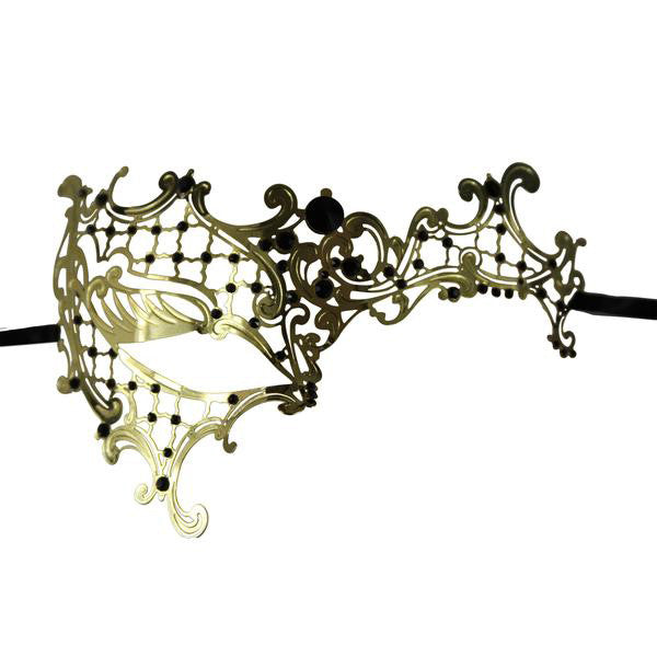 GOLD Series Signature Phantom Of The Opera Venetian Mask - Luxury Mask - 1