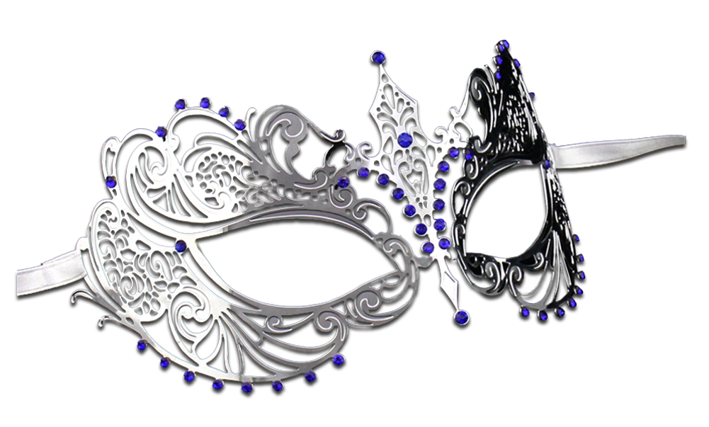 SILVER Series Laser Cut Metal Venetian Pretty Masquerade Mask - Luxury Mask - 4