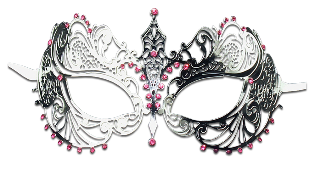 SILVER Series Laser Cut Metal Venetian Pretty Masquerade Mask - Luxury Mask - 6
