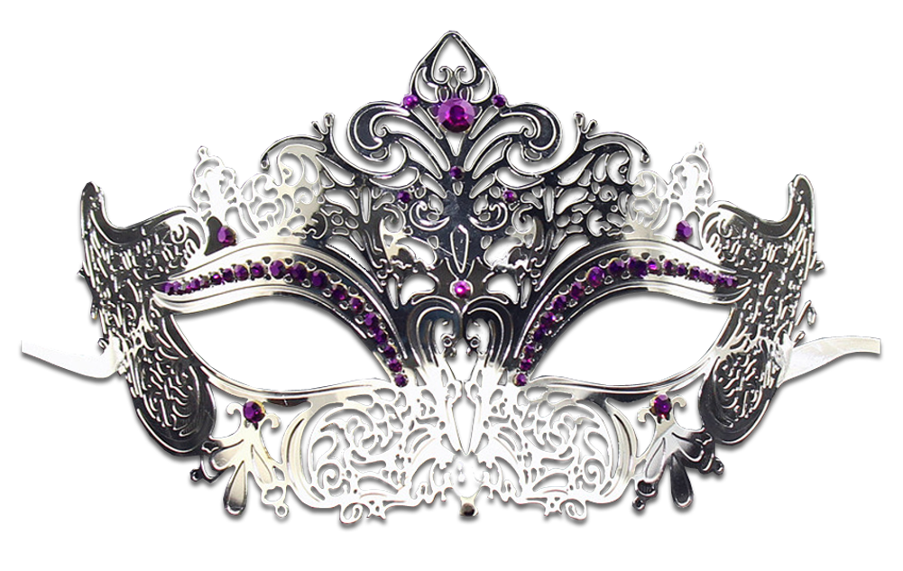 Silver Series Women's Laser Cut Metal Venetian Masquerade Crown Mask - Luxury Mask - 5