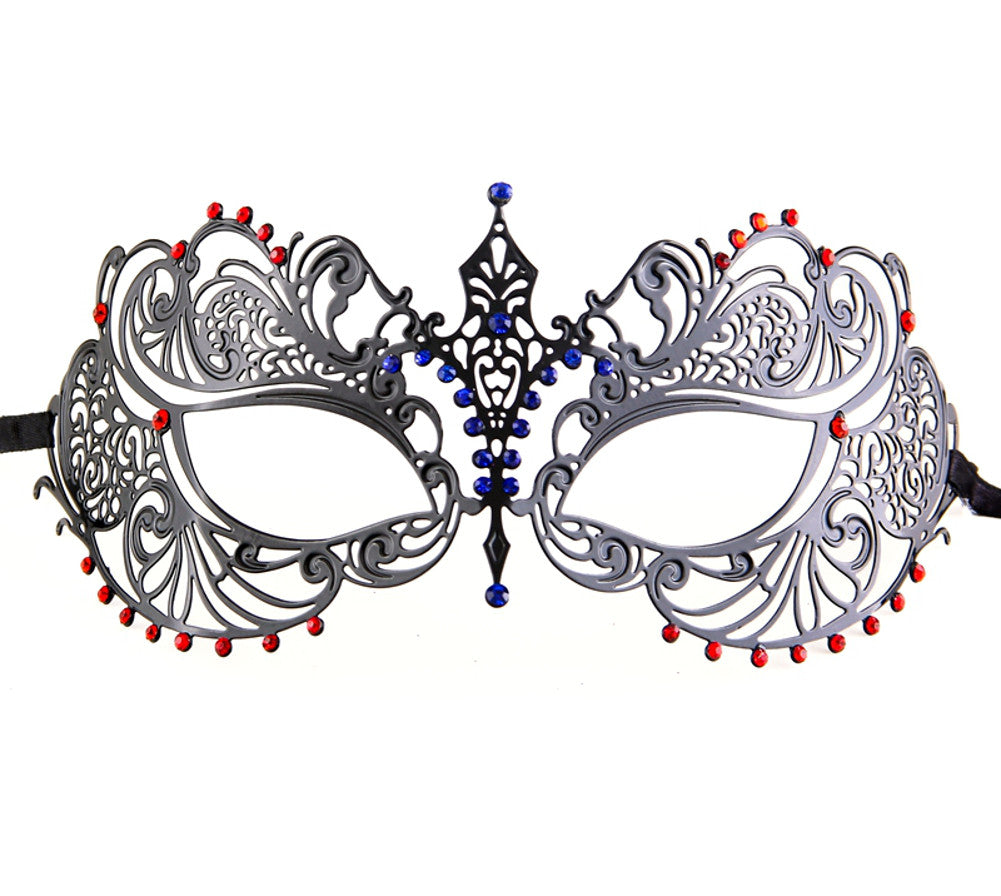 MUTLI COLOR Series Laser Cut Metal Venetian Pretty Masquerade Mask - Luxury Mask - 7