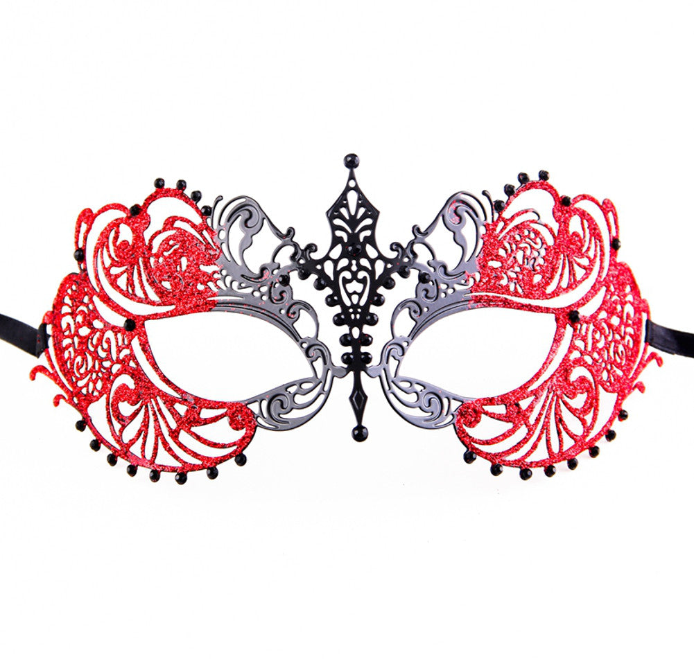 GLITTER Series Laser Cut Metal Venetian Pretty Masquerade Mask - Luxury Mask - 3