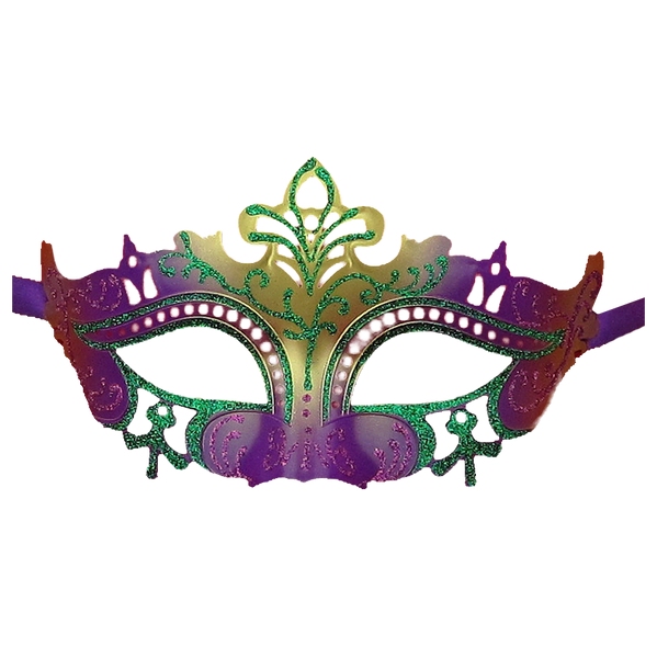 Venetian Glitter Masquerade Party Mardi Gras Mask - Luxury Mask