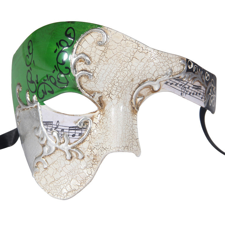 SILVER Series Phantom Of The Opera Half Face Masquerade Mask Vintage - Luxury Mask - 5
