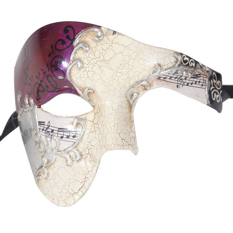 SILVER Series Phantom Of The Opera Half Face Masquerade Mask Vintage - Luxury Mask - 4