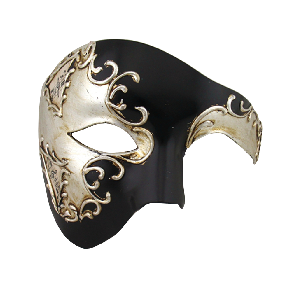 SILVER Series Phantom Of The Opera Half Face Masquerade Mask SILVER Series - Luxury Mask - 2