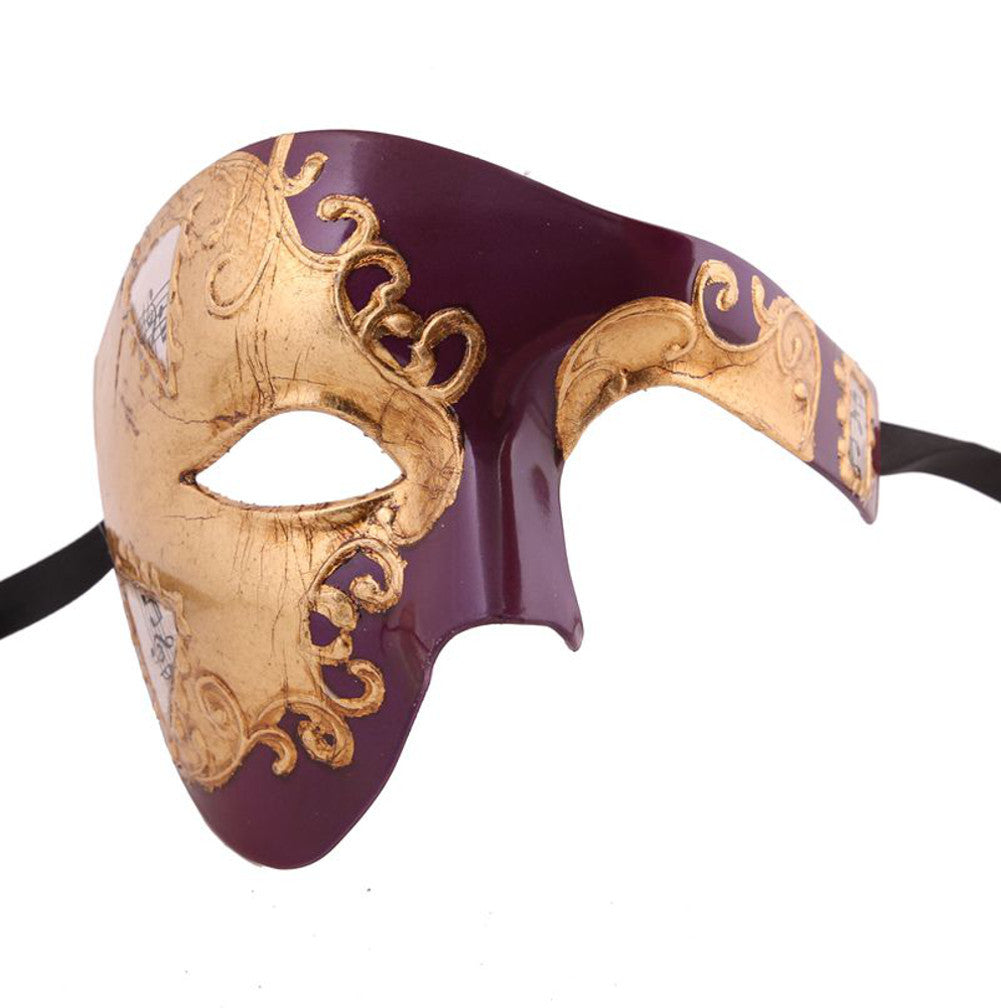 GOLD Series Phantom Of The Opera Half Face Masquerade Mask - Luxury Mask - 3