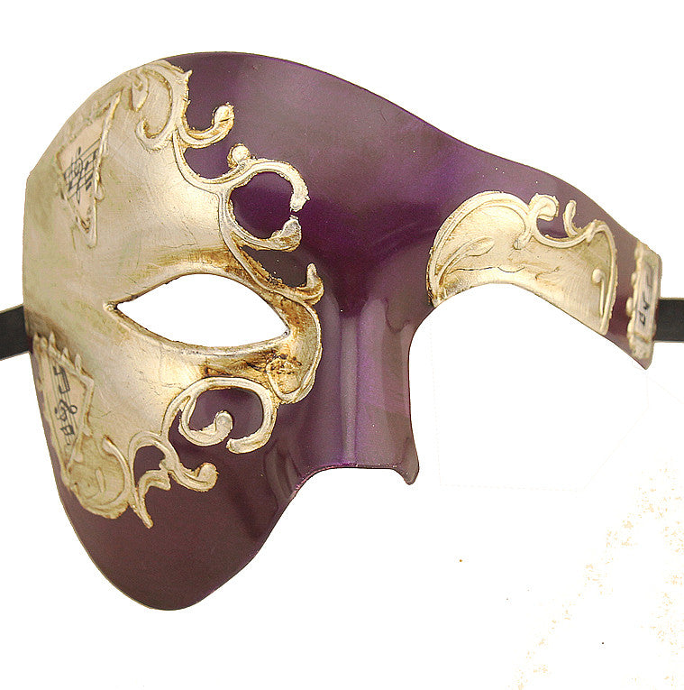 SILVER Series Phantom Of The Opera Half Face Masquerade Mask SILVER Series - Luxury Mask - 3
