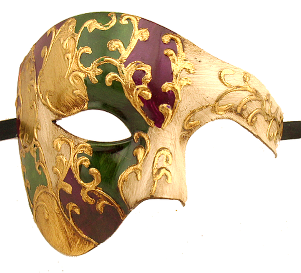 Phantom Of The Opera Mardi Gras Mask Half Face Mask - Luxury Mask