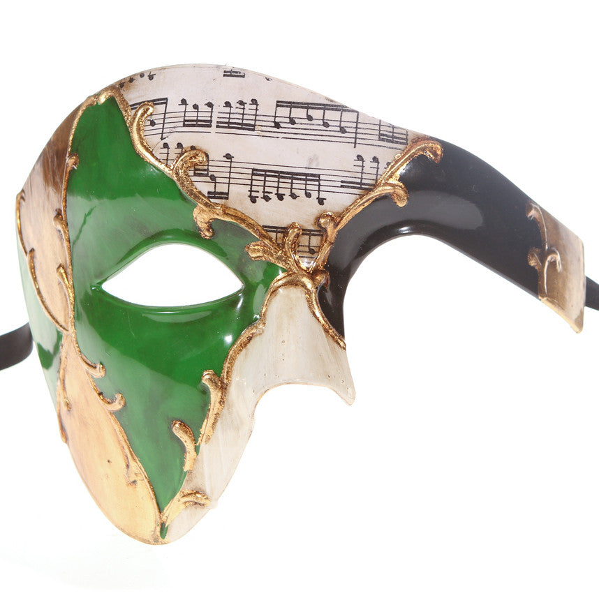 MUSICAL Series Vintage Phantom Of The Opera Half Face Masquerade Mask - Luxury Mask - 7