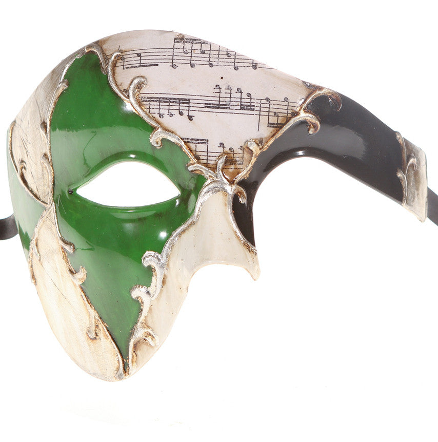 MUSICAL Series Vintage Phantom Of The Opera Half Face Masquerade Mask - Luxury Mask - 6