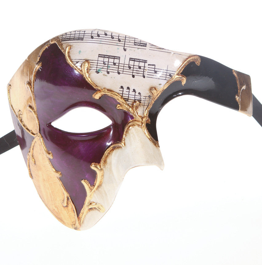 MUSICAL Series Vintage Phantom Of The Opera Half Face Masquerade Mask - Luxury Mask - 5
