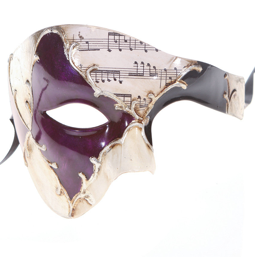 MUSICAL Series Vintage Phantom Of The Opera Half Face Masquerade Mask - Luxury Mask - 4