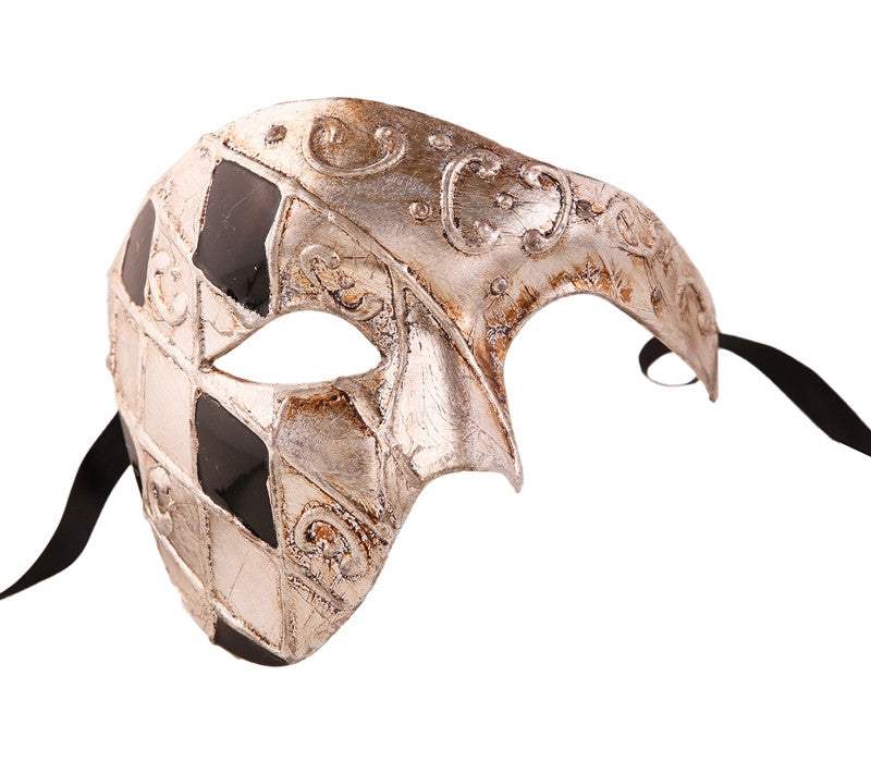 CHECKRED Series Vintage Phantom Of The Opera Half Face Masquerade Mask - Luxury Mask - 10