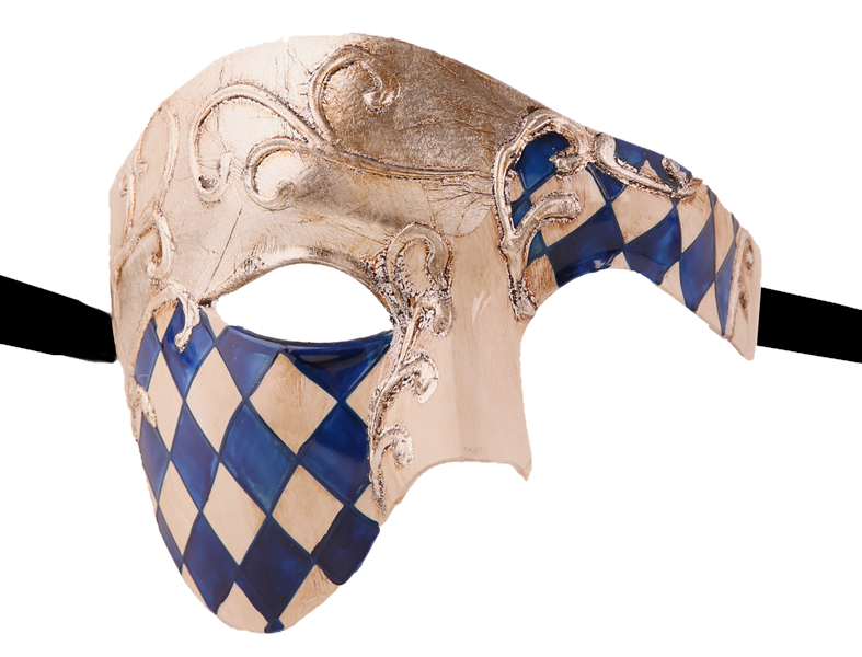 CHECKRED Series Vintage Phantom Of The Opera Half Face Masquerade Mask - Luxury Mask - 3