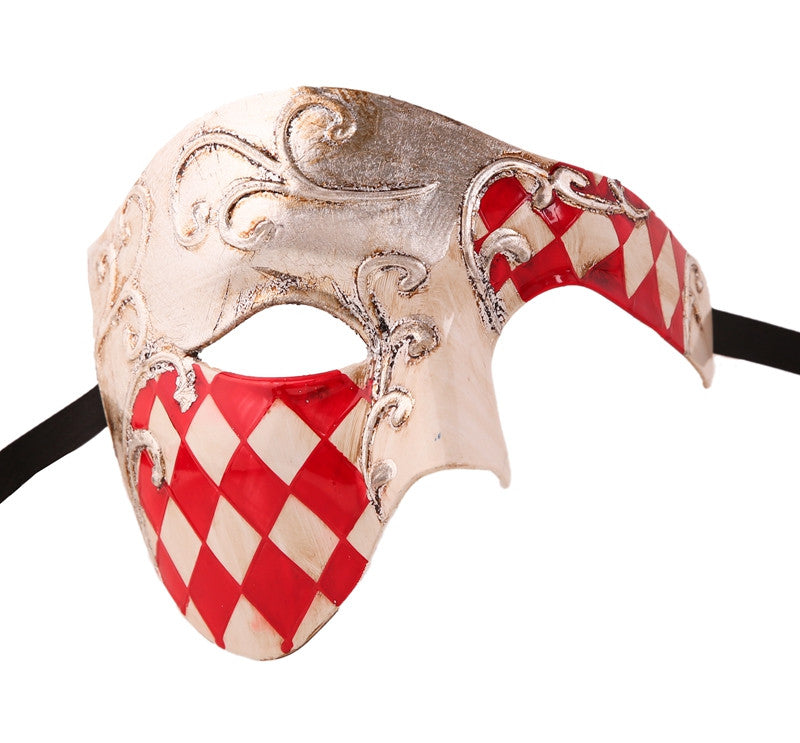 CHECKRED Series Vintage Phantom Of The Opera Half Face Masquerade Mask - Luxury Mask - 8