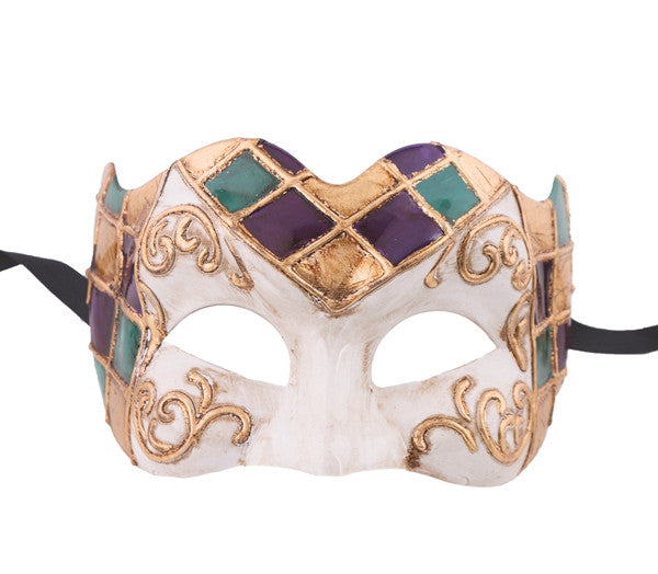 Mardi Gras Mask Venetian Style Mask - Luxury Mask